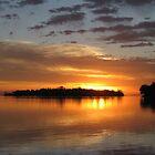 Island Sunset by gbrosseau