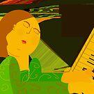 Piano player by Ana Johnson