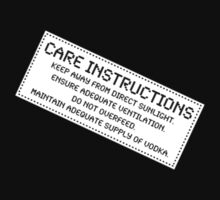 Care Instructions - Vodka by Ron Marton
