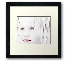 Windows to Her Soul Framed Print
