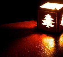 Christmas Tree Candle by gfairbairn