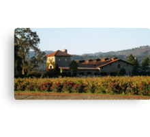 Winery of the Great  Napa Valley Canvas Print