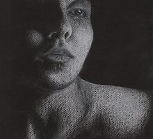 Lonesome and in Love [Self-Portrait in White Prisma] by Lauren Laumbach