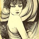 The It Girl ( Clara Bow ) by John Dicandia  ( JinnDoW )