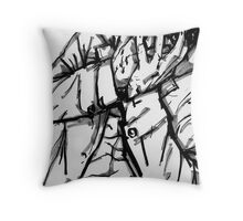 Hide Your Eyes Throw Pillow