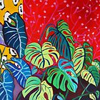 Room Full Of Philodendrons by Deborah Glasgow