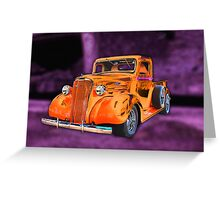 30's Screamin' Orange Chevy Pickup Greeting Card