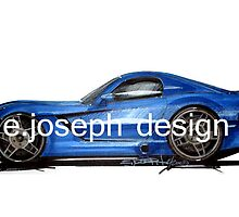 Dodge Viper Original Rendering by ejosephdesign