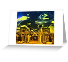 Bistro at the Edge of Never- a collaboration. Greeting Card