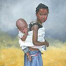 MY BROTHER, MY CHILD/Oil on canvas by Marla Brate