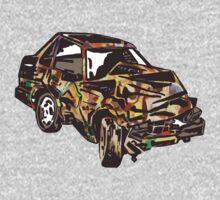 Rainbow Car Wreck by Karl Frey
