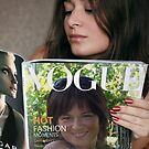 My daughter on the cover of Vogue by Marjorie Wallace