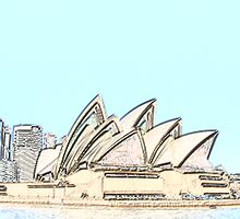 Sydney- Opera House: pencil effect by Fionna Ward