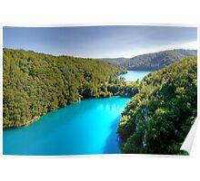 Travertine Dam Between Milanovac & Gavanovac Lakes Poster