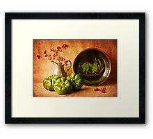 Still Life with Peppers Framed Print