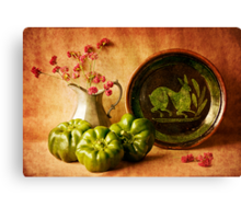 Still Life with Peppers Canvas Print