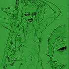Benten Dragon Princess+ Naga Gob by aizen-mugen