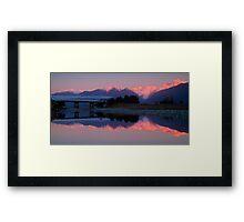 Fox Glacier at sunset Framed Print