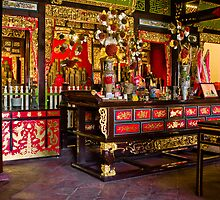 Chinese temple interior, Georgetown by John Buxton
