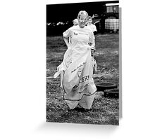 Jump to it. Greeting Card