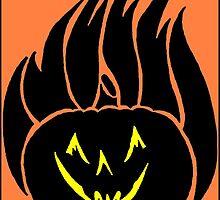 Flaming Pumpkin by redqueenself