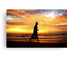 TWO MATES AT SUNRISE (FRIENDSHIP) Canvas Print