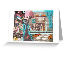 Beach Day Collage Greeting Card