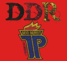 DDR - JP Emblem (black-red-gold) by fuxart