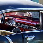 BLUE CAR RED DASH by garry stokoe