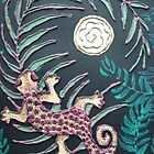 Gecko and Ivory Moon by linmarie