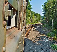 """""""Looking Back Down The Track"""" - Naugatuck RR - © 2009 by Jack McCabe"""