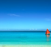 Red Sail Blue Water - Cocos (Keeling) Islands by Karen Willshaw