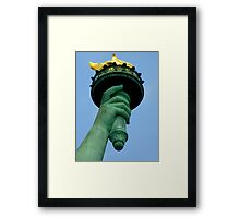 And My Hand Holds The Eternal Flame Of Hope Framed Print