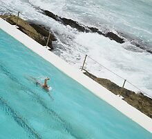 Swimmer at the Bondi beach Club by Darren Kearney