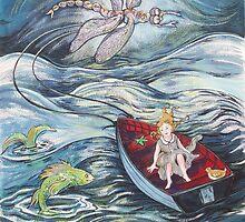 Girl in a Boat 2 by Deborah Conroy