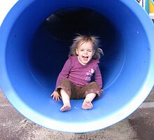 grand daughter enjoying the slide by Judy52