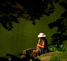 The Flautist Of Central Park by artisandelimage