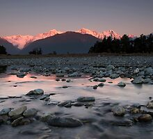 Fox Glacier, Sunset. by Michael Treloar