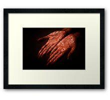 Henna'd Lace Framed Print