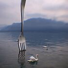 Fork - Lake Geneva, Vevey, Switzerland by Matthew Walters