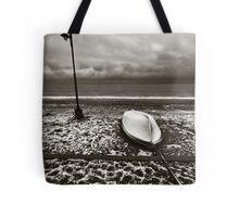 Winter boat. Tote Bag