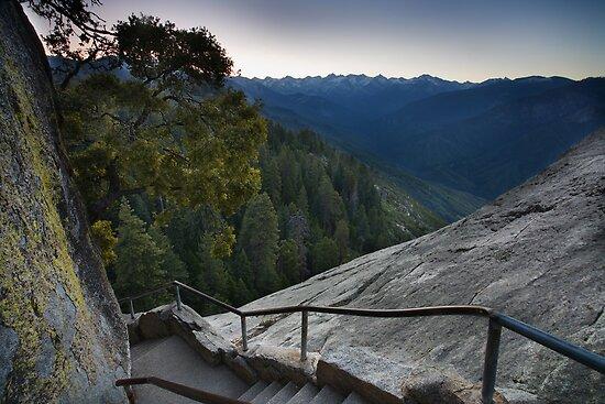 Moro Rock Steep Stairway by Adam Bykowski