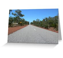 Sealed Road in Litchfield National Park, NT, Australia Greeting Card