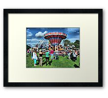 The Roundabout at Hawkesbury Upton Fair and Horticultural Show.   Framed Print