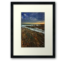 The Cascading Elements of Dawn Framed Print