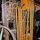 Old Rope Pulleys by David DeWitt