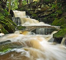 Waterfalls at Earby by Steve  Liptrot
