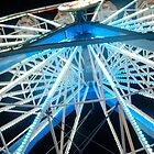 BIG ELECTRIC BLUE WHEEL by Bill Patten