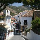 Mijas, Spain Street by Allen Lucas