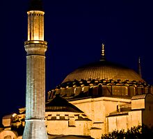 Lighted Minaret And Dome by phil decocco